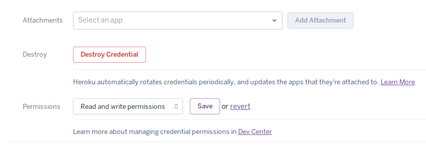 Heroku Postgres Credentials | Heroku Dev Center