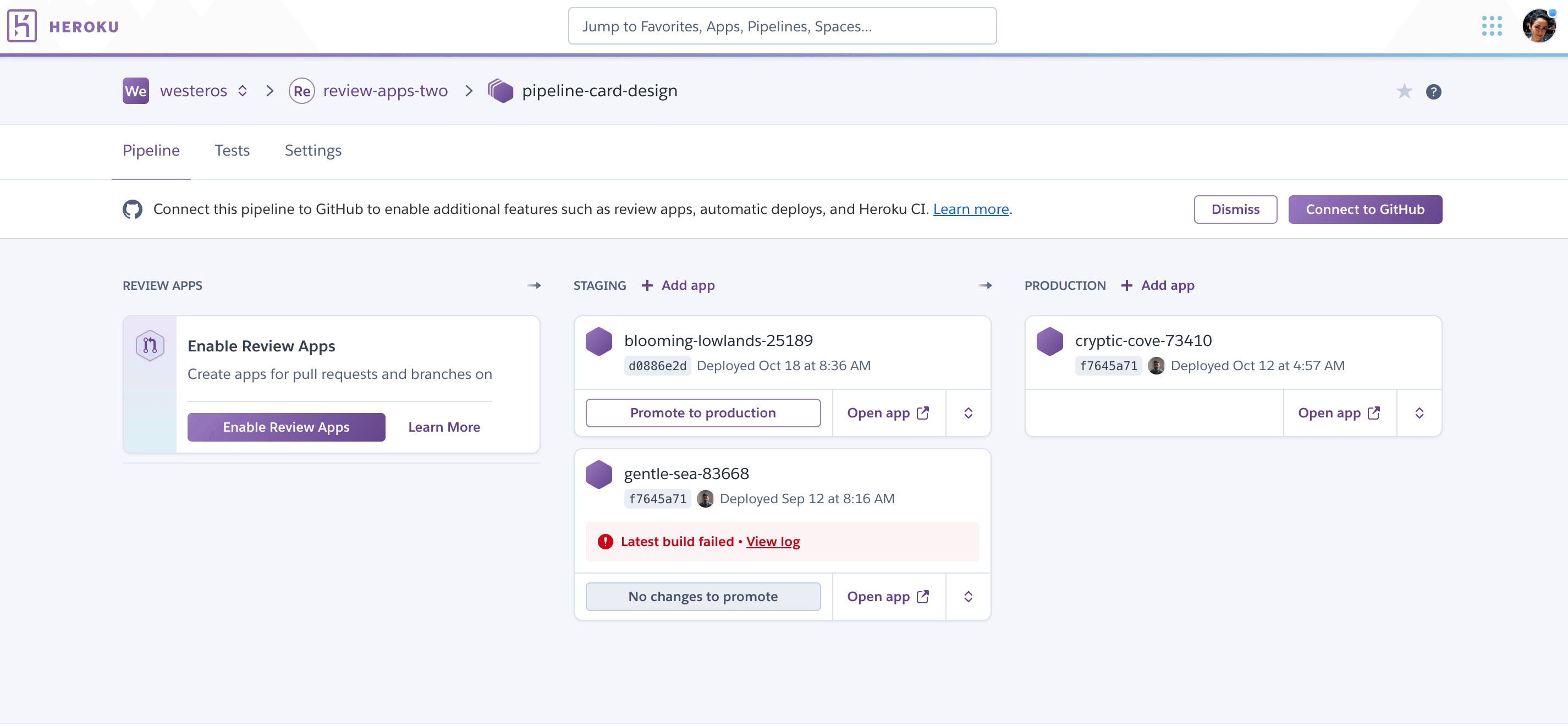 Review Apps (New) | Heroku Dev Center