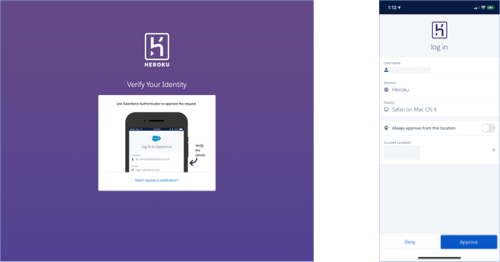 Login with Salesforce Authenticator
