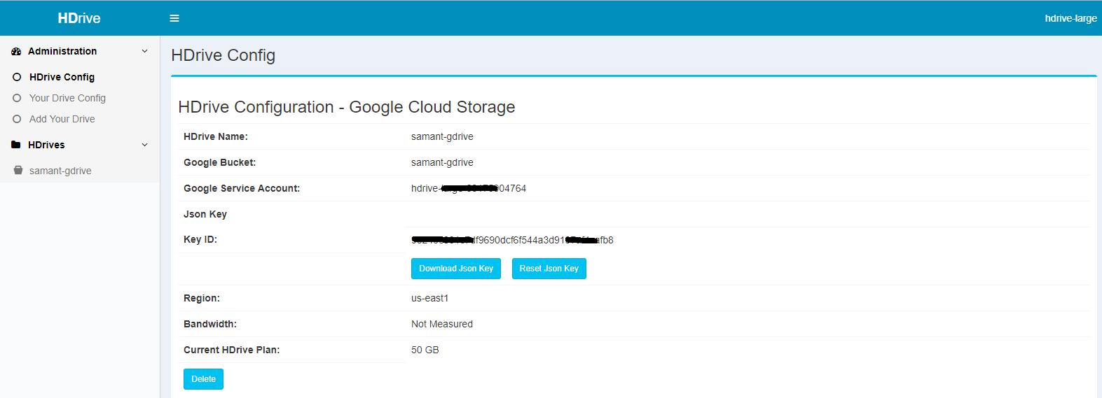 Google HDrive Config