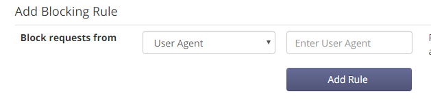 User Agent Rule